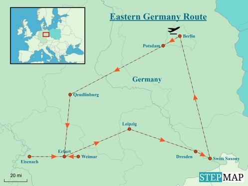 Revised Map Eastern Germany Route