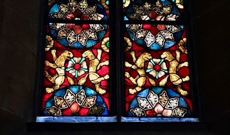 The rose in the stained glass window inspired Luther's crest of arms